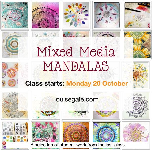 Mixed Media Mandala Class ©LouiseGale