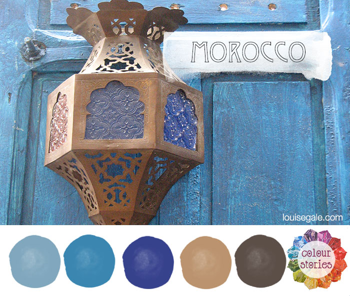 Morocco_colourstories_bluedoor&lantern ©Louise Gale