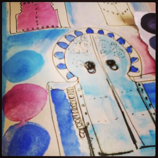 Journal door instagram ©Louise Gale
