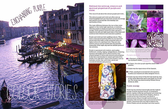 Published Purple Violet Colour Stories In MOYO Magazine