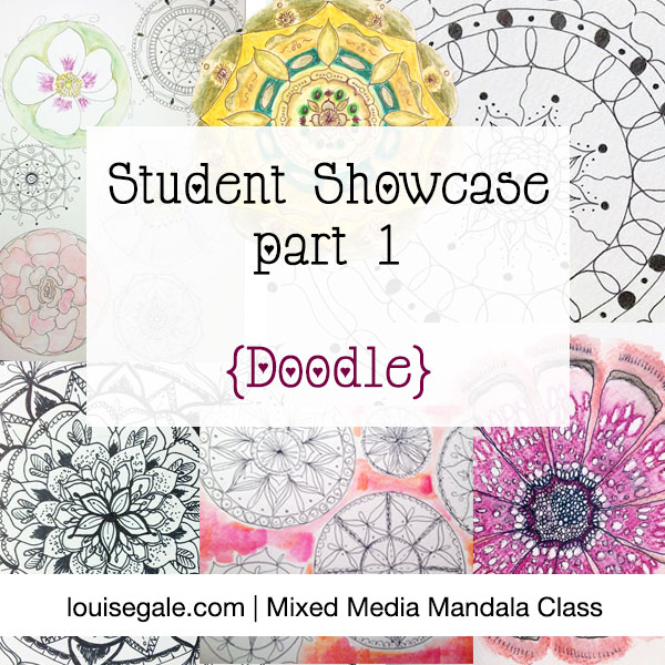 Mixed Media Mandala Student Showcase part 1