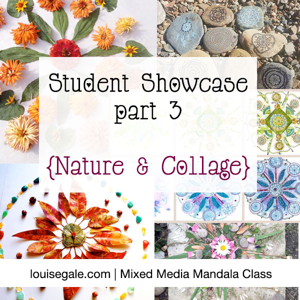 Mixed Media Mandala Showcase part 3 collage nature