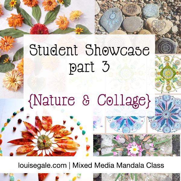 Mixed Media Mandala Showcase part 3 collage nature