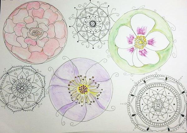 Radiance Shamayah Mixed Media Mandala online class