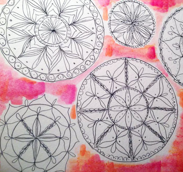 Shelley Yoshiwara Mixed Media Mandala online class