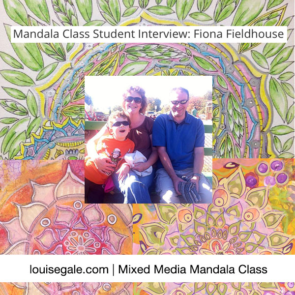 Mixed Media Mandala Class Interview Fiona-Fieldhouse