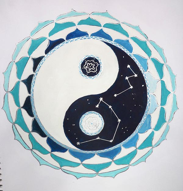 Mixed Media Mandala class YinYang Mandala - Judith Clough