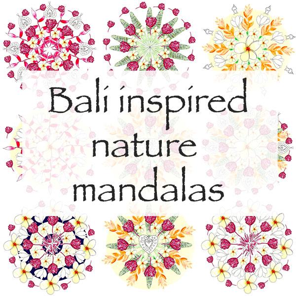 Bali Inspired Nature Mandalas