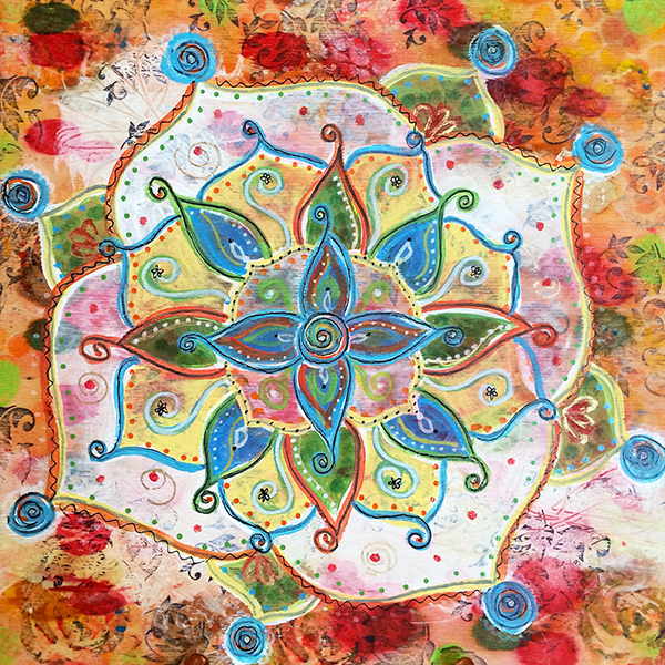 mandala ilene Price mixed media mandala class