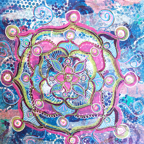 mandala iIene Price mixed media mandala class