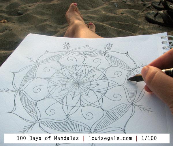 100 days of mandalas mixed media mandalas art class