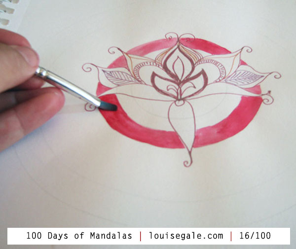 100 days of mandalas mixed media mandalas mandala art class, lotus flower