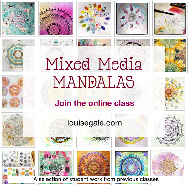 Mixed Media Mandala art class