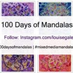 100 Days of Mandalas. mixed media mandalas, mandalas in mixed media