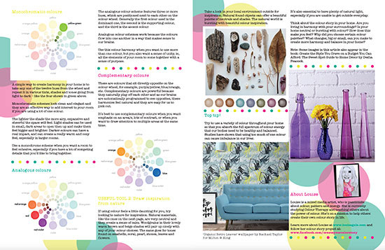 moyo magazine colour story, color harmony in your home