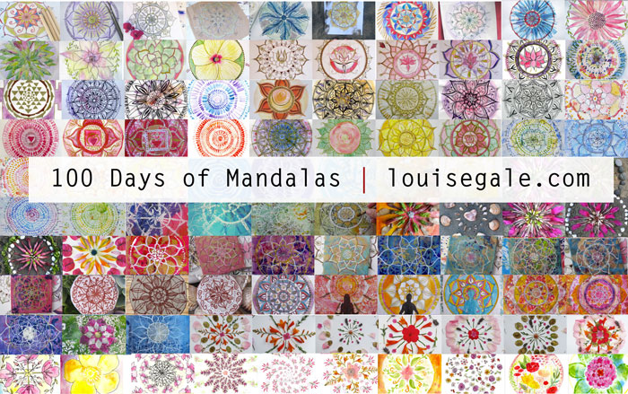 100 days of mandalas mixed media mandalas mandala art class