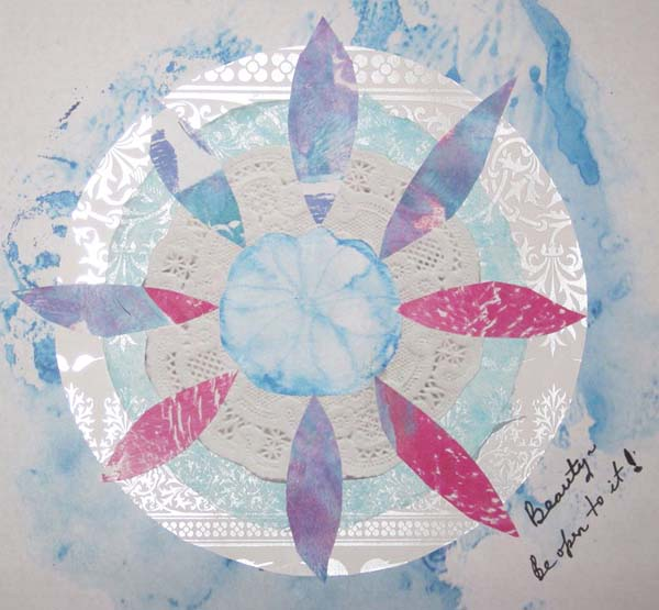 Christine O'Brien mixed media mandala class