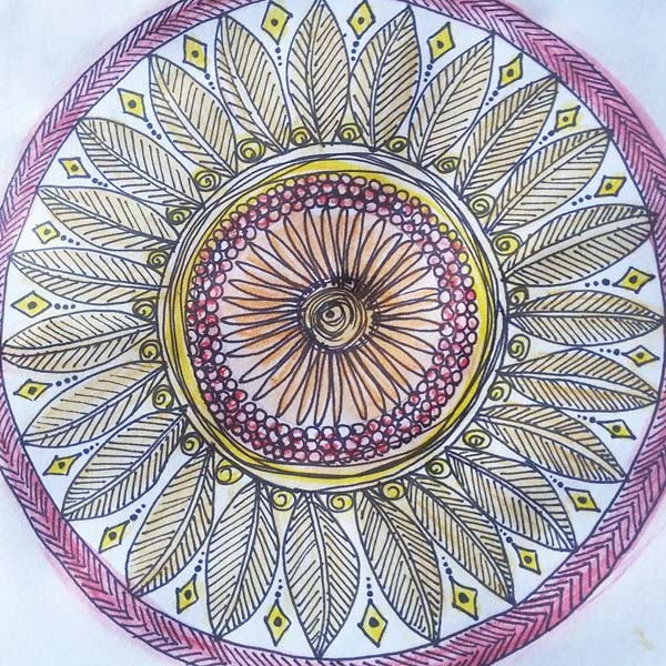 Corinna Maggy mixed media mandala class
