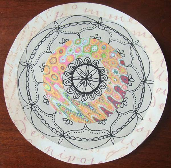 Ineke Jansma‎ mixed media mandala class