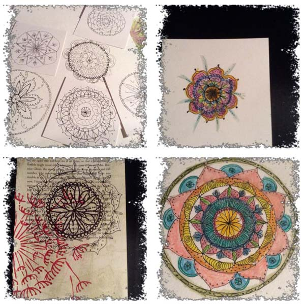 Julie Anderson Galewski‎ mixed media mandala class