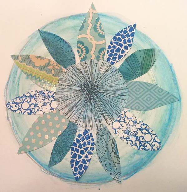 Kate Raineri mixed media mandalas class