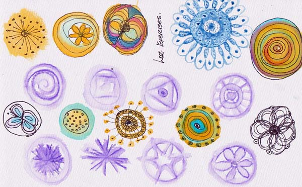 Loz Mckew mixed media mandala class