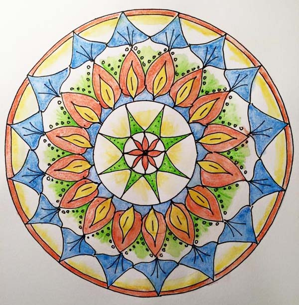 Lydia Eloff mixed media mandala class