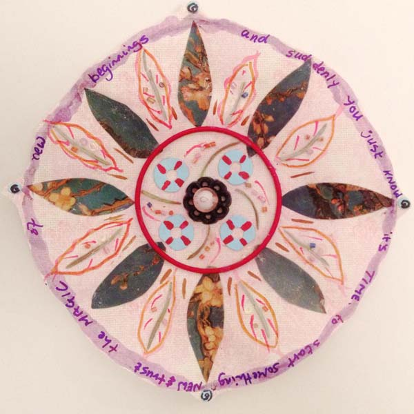 Lynette Evans mixed media mandala class