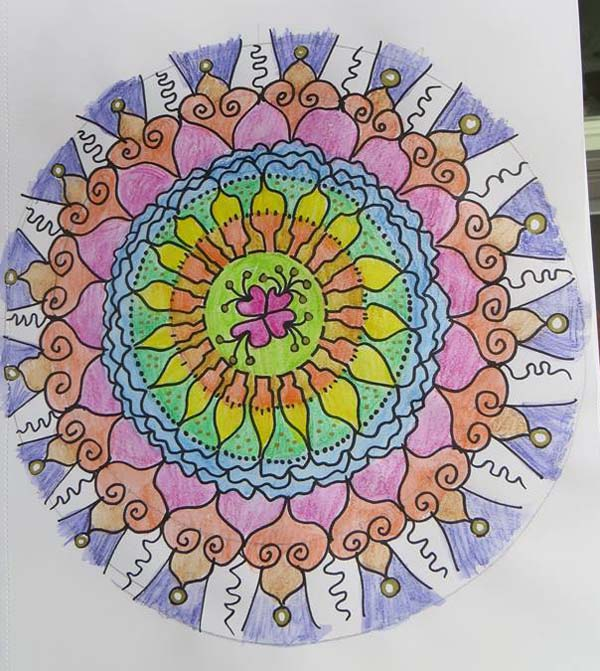 Tiina To mixed media mandala class