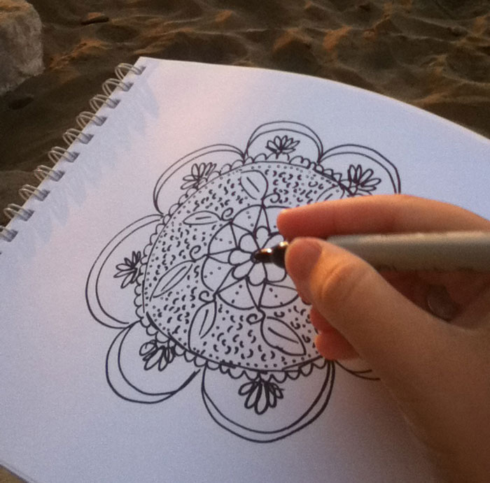 mandala beach drawing