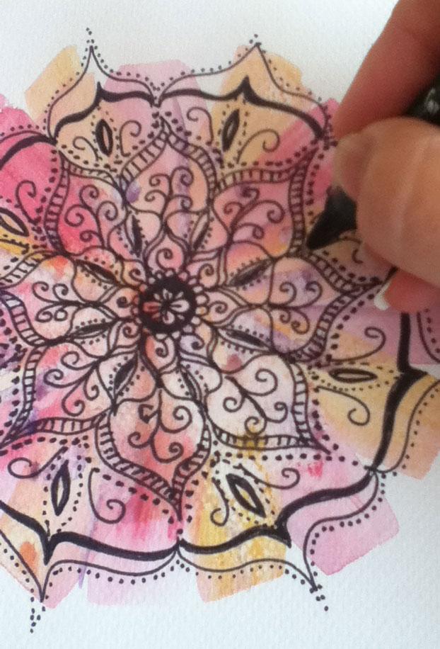 mandala doodle Louise Gale