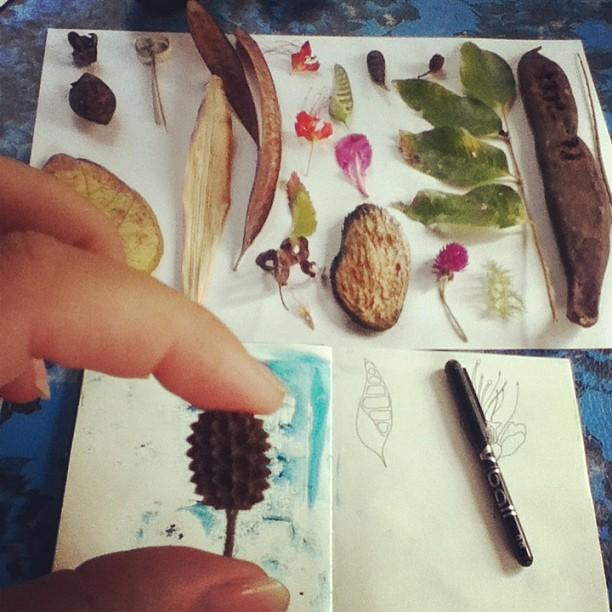 nature sketchbook Bali