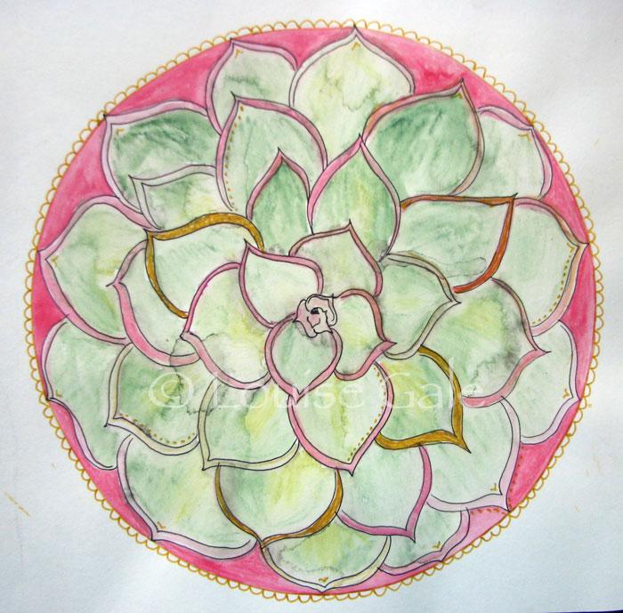 Succulent Botanical Mandala