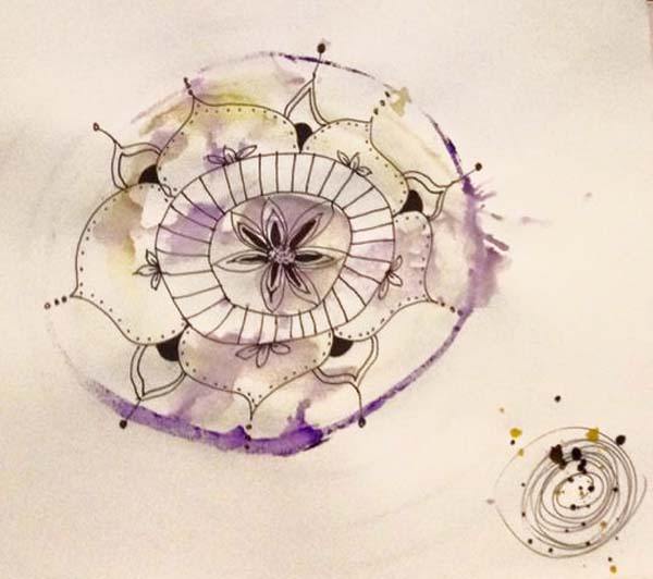 Amy Kucherawy mixed media mandalas