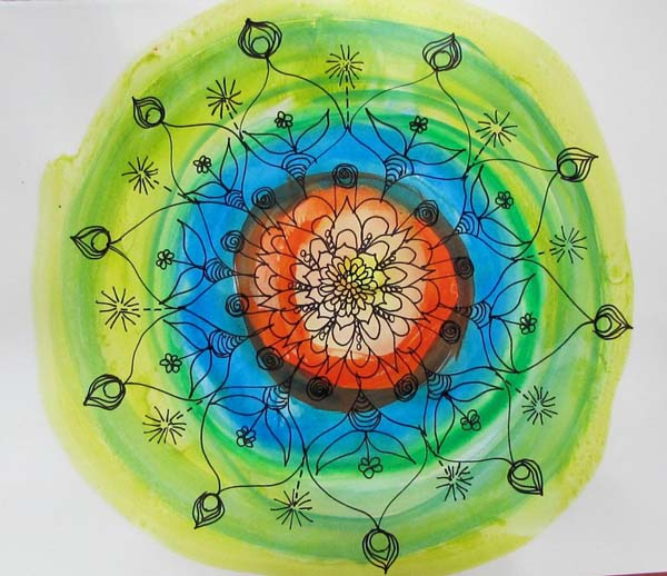 Anna Maria Stone mixed media mandalas