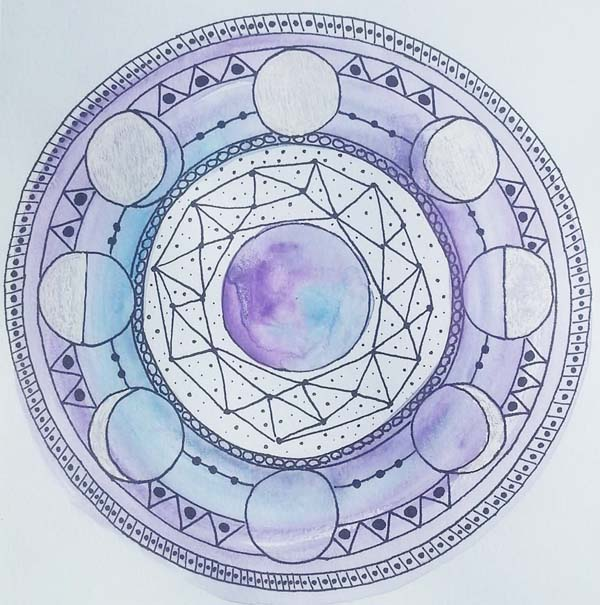 Corinna Maggy mixed media mandalas