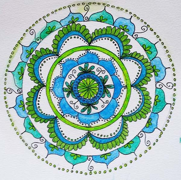 Ineke Jansma mixed media mandalas