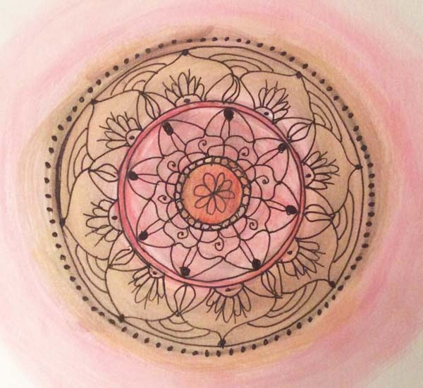 Julie Anderson Galewski mixed media mandalas