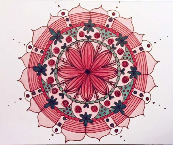 Kate Raineri mixed media mandala