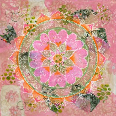 Lydia Eloff mixed media mandalas