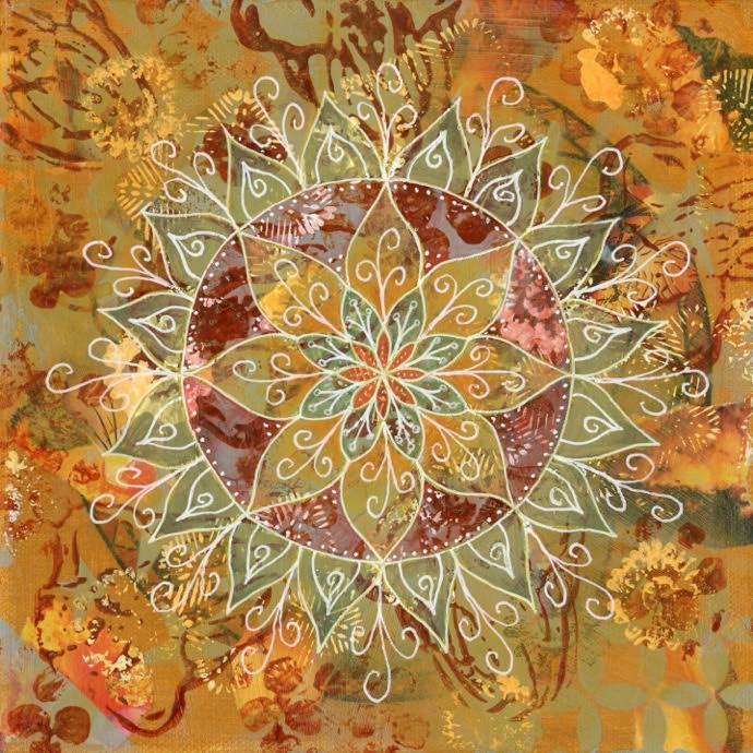 Lydia Eloff mixed media mandala