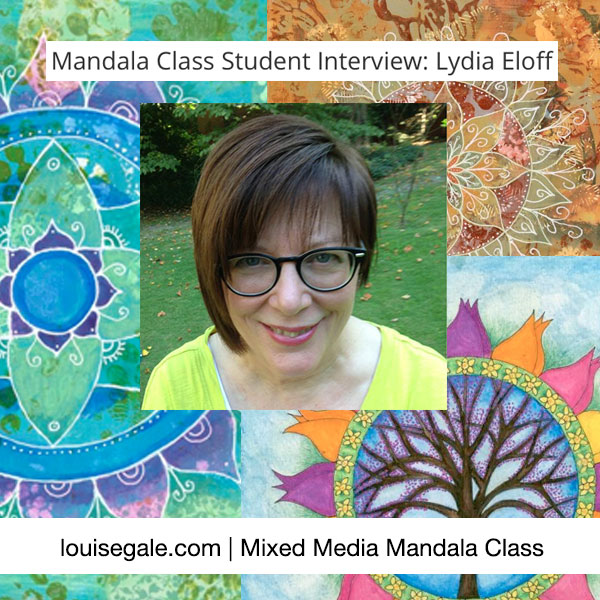 Lydia mixed media mandala interview