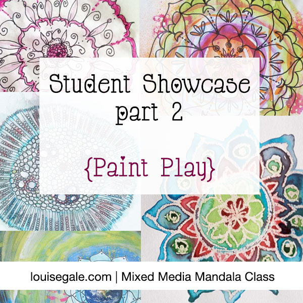 mixed media mandala class student showcase