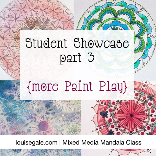 mixed media mandalas student showcase
