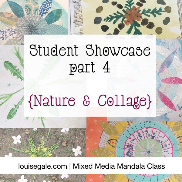 mixed media mandala student showcase