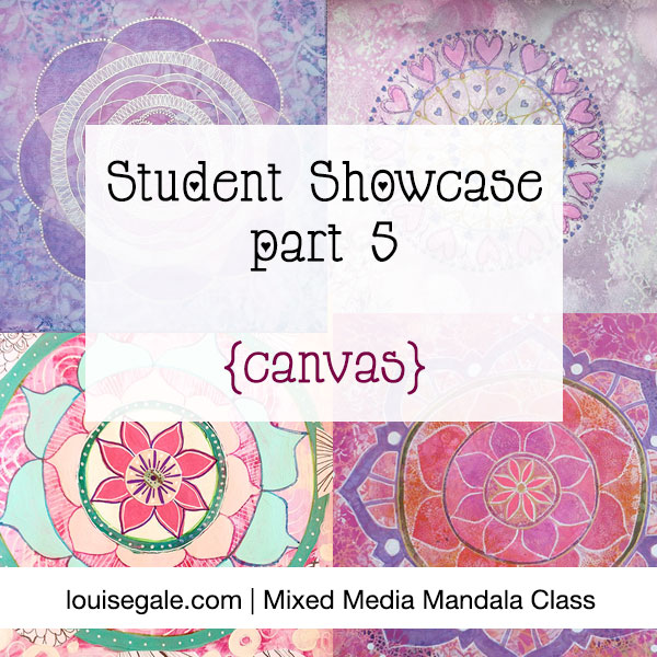 mixed media mandala showcase