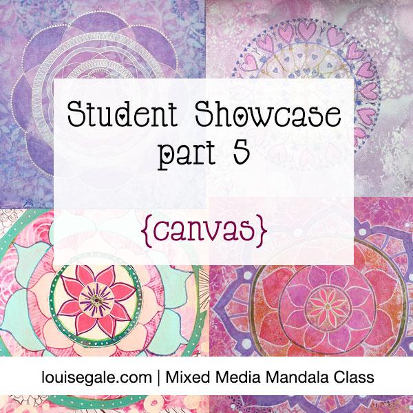 mixed media mandala showcase
