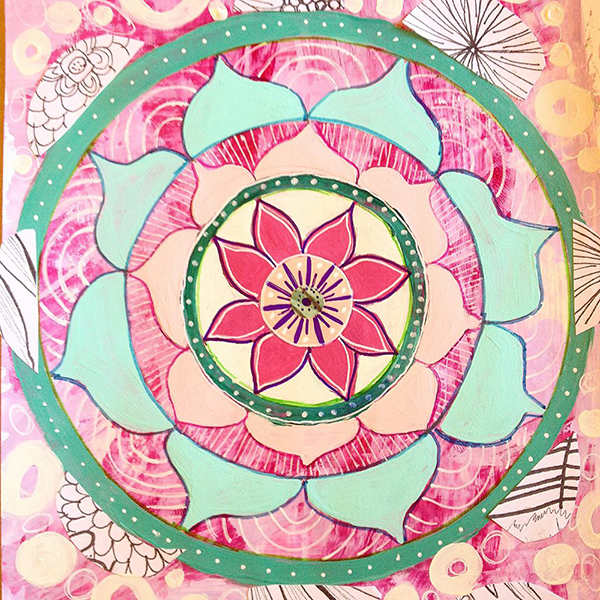 Rosalina Bojadschijew mixed media mandalas