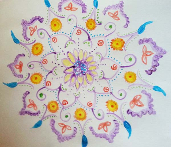 Sande Irwin mixed media mandalas