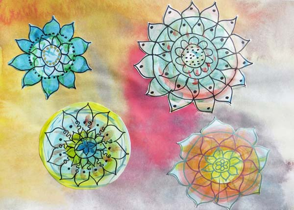 Tiina To mixed media mandalas